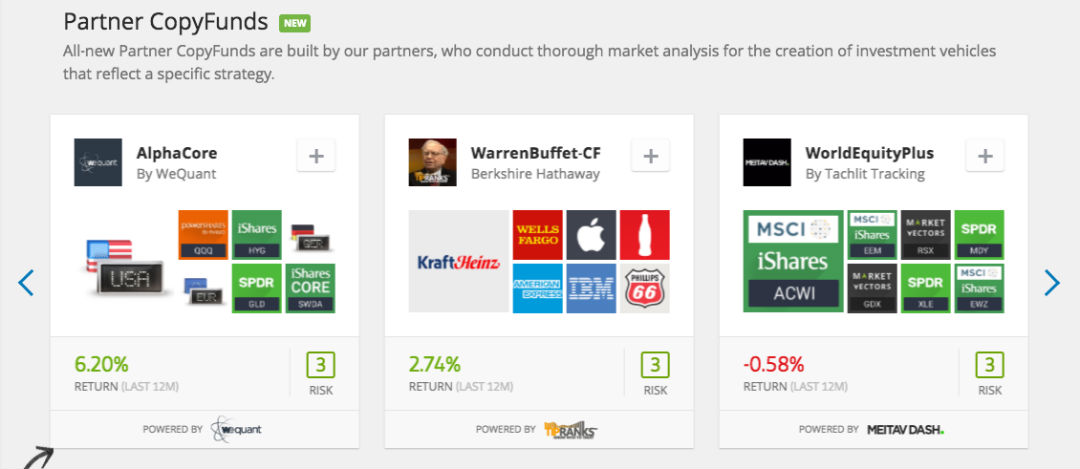 PARTNER ETORO COPYFUNDS